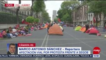 Foto: Protesta frente a Segob afecta vialidad