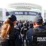 Foto: protesta de policías federales, 8 de julio 2019. EFE