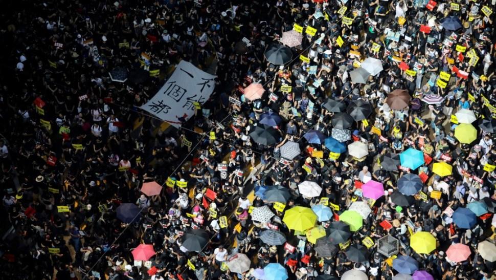FOTO Protestas en Hong Kong, en aniversario del traspaso a China (AP 1 julio 2019 hong kong)