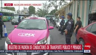 Foto: Registro Padrón Conductores Transporte Publico 26 Julio 2019