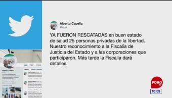 Rescatan a 25 personas privadas de su libertad en Cancún