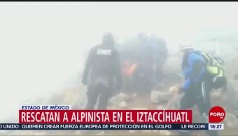 Rescatan a alpinista herido en el Iztaccíhuatl