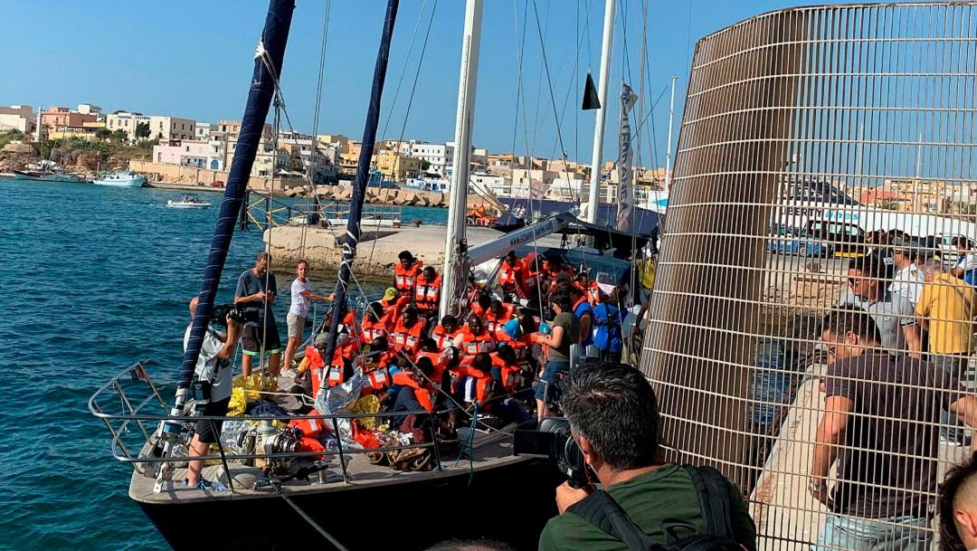 Foto: Rescate de migrantes en costas de Italia, 6 de julio de 2019. Italia