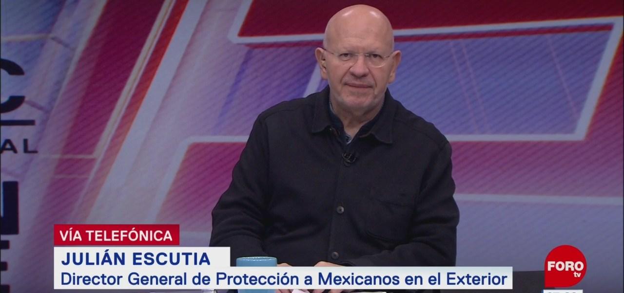 Se alista red consular para ofrecer protección migratoria a mexicanos, dice Julián Escutia