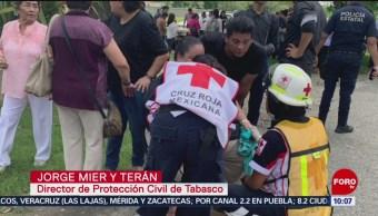 FOTO: Se derrumba domo en centro cristiano en Tabasco, 27 Julio 2019