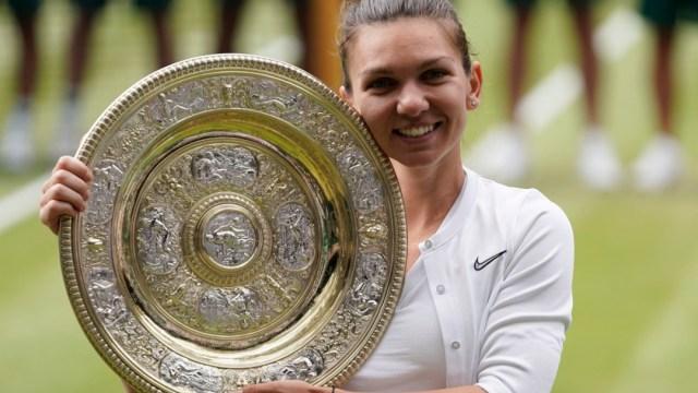 Foto: Simona Halep ganó el título individual de Wimbledon, 13 julio 2019