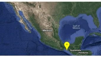 Foto: Mapa de sismo en Chiapas. 17 de julio de 2019, México