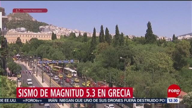 Sismo de magnitud 5.3 remece Atenas, Grecia