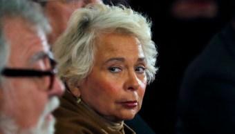FOTO Sobre renuncia de Olga Sánchez Cordero, AMLO dice: 'No queremos que se vaya' (AP archivo)