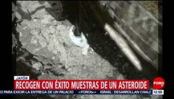 Sonda de Japón recoge muestras de asteroide