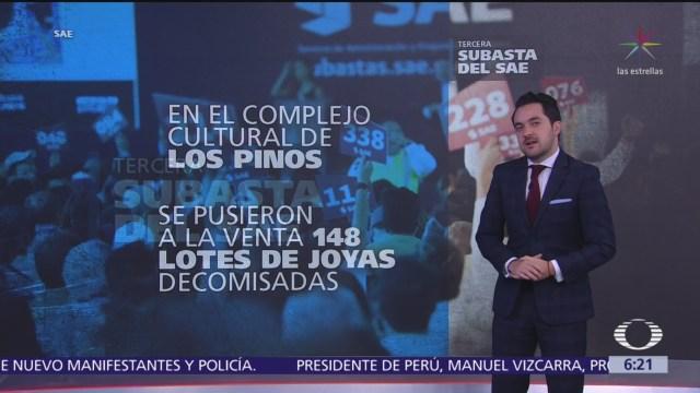 Subasta de joyas en Los Pinos recauda 10.3 mdp