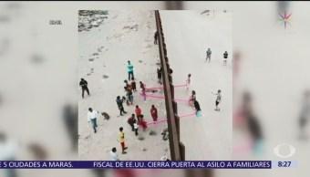 Sube y baja une la frontera entre México y Estados Unidos