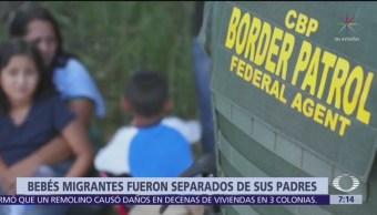 Suman 18 bebés separados de sus padres en la frontera México-EU
