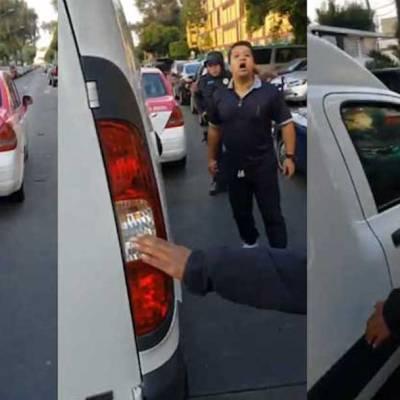 Video: Sancionan a taxista violento que agredió a un automovilista con un cuchillo