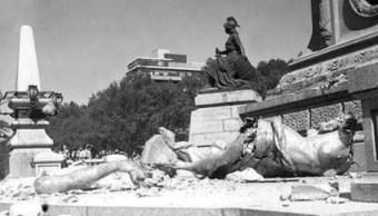 Foto: Hace 60 años, un sismo tiró el Ángel de la Independencia, 28 julio 2019