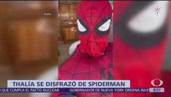Thalía se disfraza de Spiderman y lo comparte en Instagram