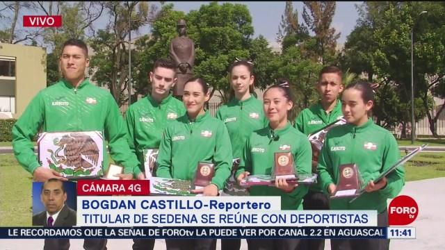 Titular de Sedena se reúne con deportistas que participarán en Juegos Panamericanos 2019