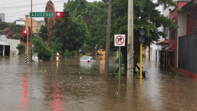 Foto: Distintas zonas de la ciudad de Oaxaca registran inundaciones, caída de árboles y encharcamientos por las fuertes lluvias, el 21 de julio de 2019 (Twitter: @sietediasoaxaca)
