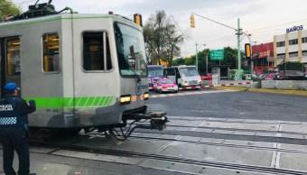 Suspenden operación del tren ligero por mantenimiento