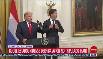 Foto: 18 Julio 2019 Trump Anuncia Derribo Dron Iraní Estrecho Ormuz 18 Julio 2019
