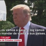 Foto: Trump defiende su política migratoria, dice que es legal