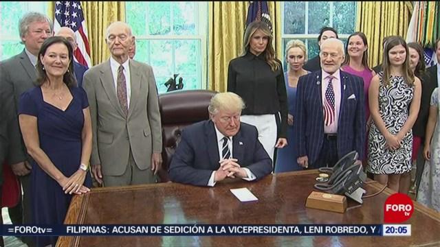 Foto: Trump Recibe Astronautas Apolo 11 19 Julio 2019