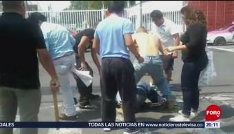 Foto: Vecinos Detienen Golpean Ladrón Iztacalco 9 Julio 2019