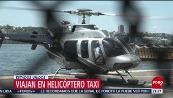 FOTO: Viajan en helicóptero taxi en Estados Unidos, 7 Julio 2019