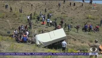 Volcadura de camioneta deja 16 muertos en Turquía