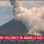 FOTO: Volcán Popocatépetl registra nueva exhalación