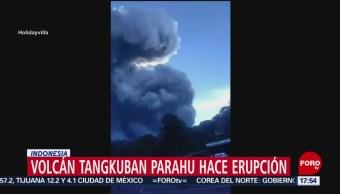 Foto: Volcán Tangkuban Parahu entra en erupción