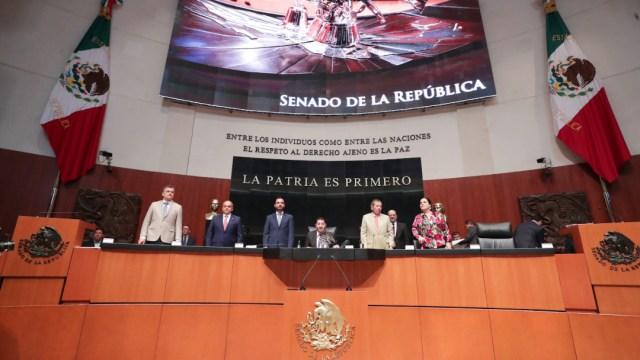 Foto: La comisión permanente guardó un minuto de silencio, 28 de agosto de 2019 (Senado de la República, archivo)