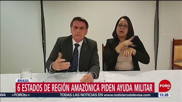FOTO: 6 estados de región amazónica piden ayuda militar en Brasil, 25 Agosto 2019