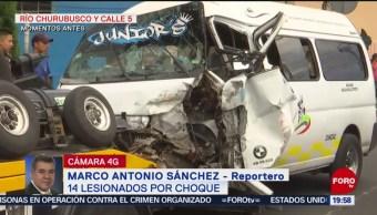 Foto: Choque Pasajeros Lesionados Cdmx Churubusco 15 Agosto 2019