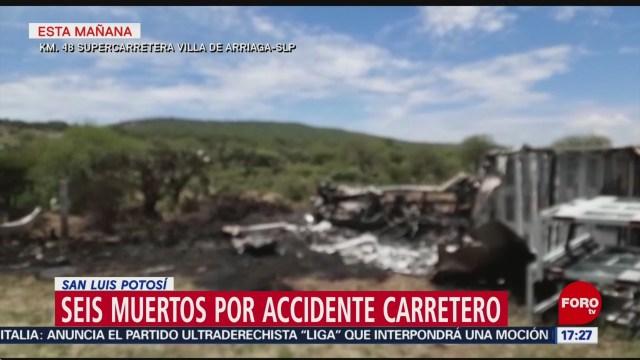 Foto: Accidente Tráiler San Luis Potosí Deja 6 Muertos