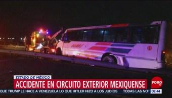 FOTO: Accidente en Circuito Exterior Mexiquense deja ocho lesionados, 18 Agosto 2019