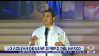 Acusan a presidente de Honduras de usar dinero del narco en campaña electoral