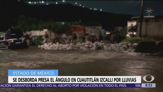 Afectaciones por desbordamiento de la presa El Ángulo