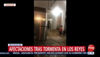 FOTO: Afectaciones tras tormenta en Los Reyes, Michoacán, 24 Agosto 2019