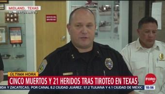 FOTO: Al menos 5 muertos y 21 heridos en tiroteo en Texas, 31 Agosto 2019
