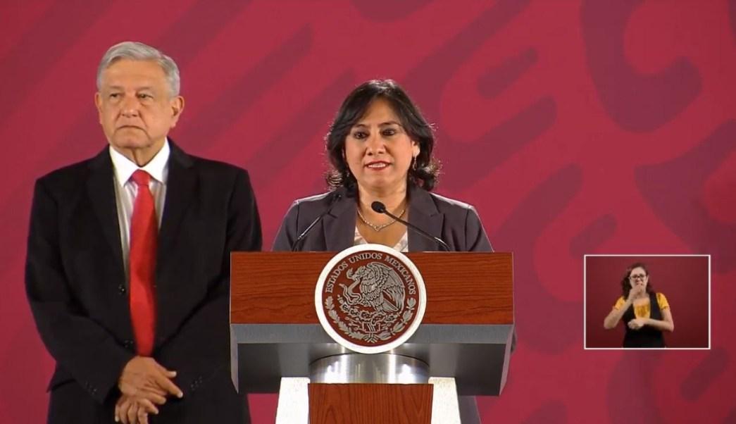 Foto: Irma Eréndira Sandoval, secretaria de la Función Pública, anunció la puesta en marcha de un nuevo programa contra la corrupción, 7 agosto 2019