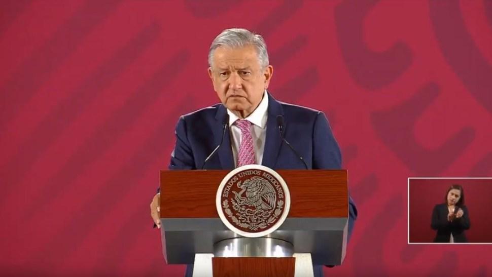 El presidente de México, Andrés Manuel López Obrador, en su conferencia de prensa matutina, 22 agosto 2019