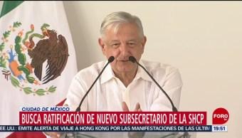 Foto: Amlo Envía Nombramiento Subsecretario Hacienda Permanente 14 Agosto 2019