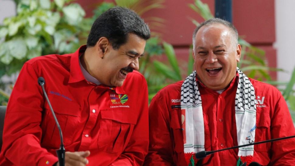 Foto: Diosdado Cabello es muy allegado al presidente, Nicolás Maduro, 18 de agosto 2019. (AP)