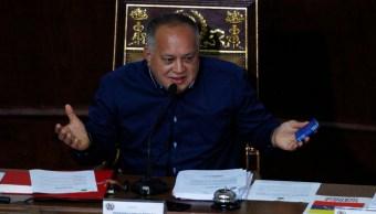 Foto: Diosdado Cabello es considerado el segundo hombre más poderoso en Venezuela, 18 de agosto 2019. (AP)