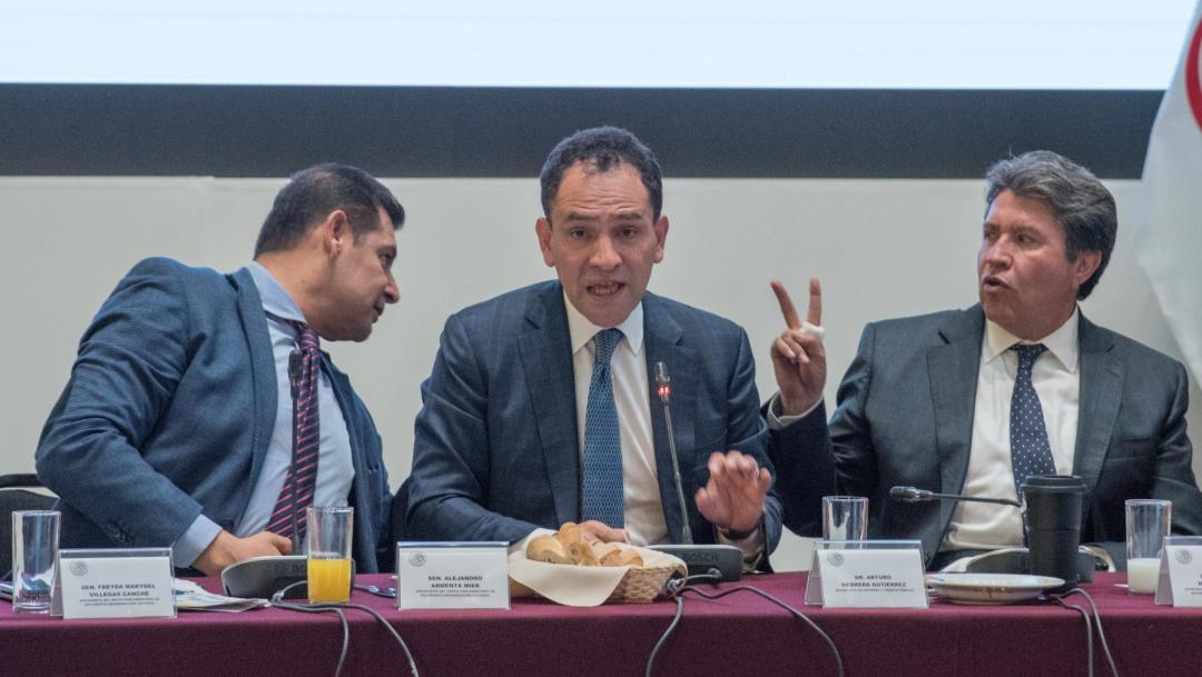 Foto: Arturo Herrera en la Reunión Plenaria de Morena, 30 de agosto de 2019 (Cuarto Oscuro)