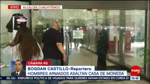 Asaltan casa de moneda en Paseo de la Reforma, CDMX