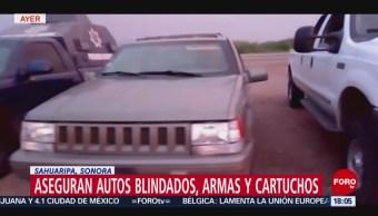 FOTO: Aseguran Autos Blindados Sonora