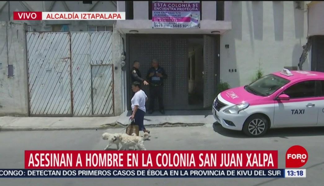 FOTO: Asesinan hombre calles alcaldía Iztapalapa