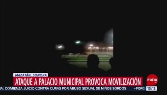 Foto: Atacan Balazos Palacio Municipal Mazatlán Sonora